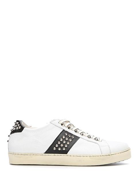 Leather Crown Sneakers Beyaz